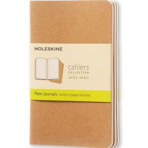 Moleskine Cahier Journal, Soft Cover, Set of 3.